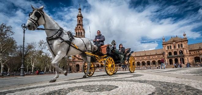 boda civil sevilla coche de caballos